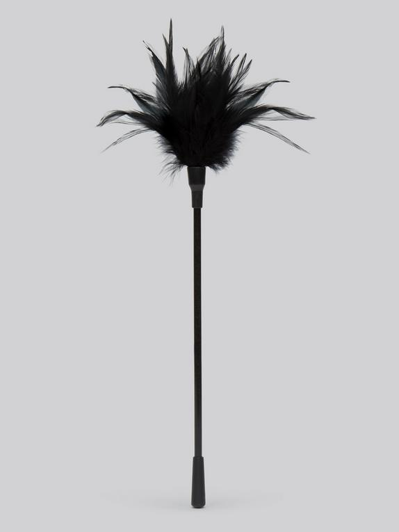 Bondage Boutique Tickled Kink Feather Tickler, Black, hi-res