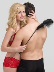 Bondage Boutique Luxury Ostrich Feather Tickler, Black, hi-res