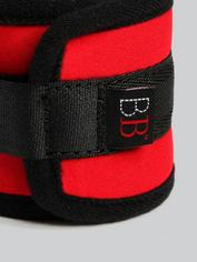 Bondage Boutique Soft Ankle Cuffs, Red, hi-res