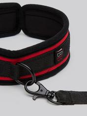 Bondage Boutique Soft Collar and Leash, Red, hi-res