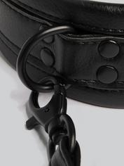 Bondage Boutique Faux Leather Collar and Leash, Black, hi-res