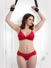 Bondage Boutique Soft Over-The-Door Handcuffs, Black, hi-res