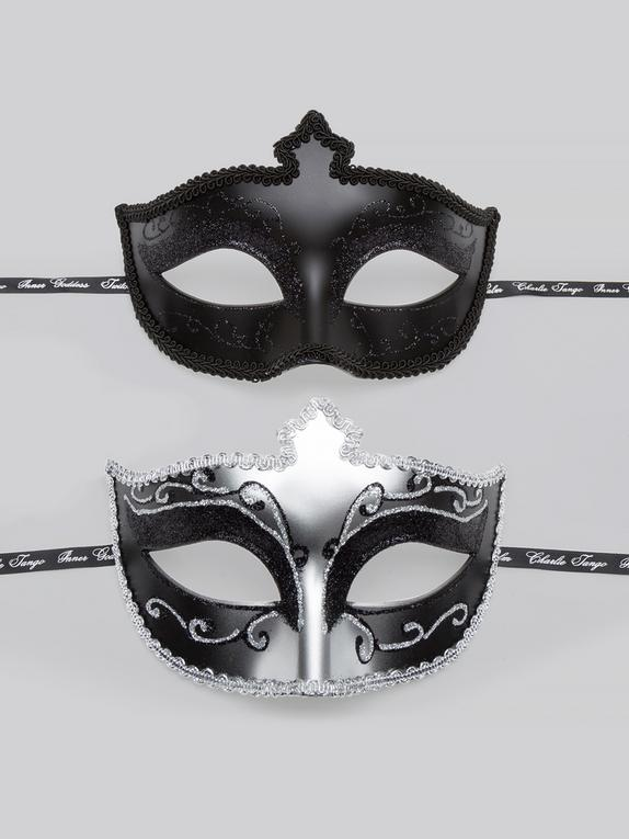 Fifty Shades of Grey Masks On Masquerade Mask (Twin Pack), Silver, hi-res