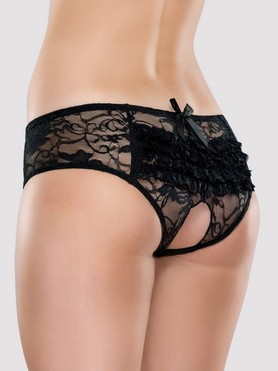 Lovehoney Crotchless Lace Ruffle-Back Knickers