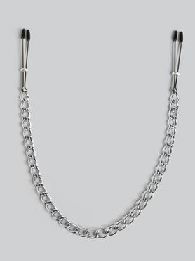 DOMINIX Deluxe Adjustable Tweezer Nipple Clamps with Chain