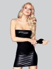 7heaven Oxana Wet Look Mini Dress with Spanking Paddle, Black, hi-res