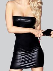 7heaven Oxana Wet Look Mini Dress with Spanking Paddle, Black, hi-res