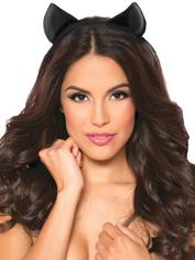 Seven 'til Midnight Kitty Headband, Black, hi-res