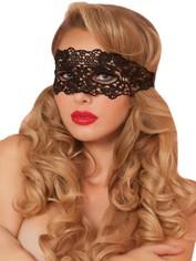 Seven 'til Midnight Lace Eye Mask, Black, hi-res