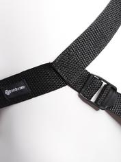 Fetish Fantasy Gold Designer Unisex Strap-On Harness with Dildo 7.5 Inch, Black, hi-res
