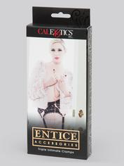 Entice Triple Nipple and Clit Clamps with Chain, Gold, hi-res