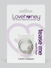 Lovehoney Tease Me Advanced Nipple Clamps with Heart Charms, Silver, hi-res