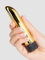 BASICS Powerful Mini Vibrator 5 Inch, Gold, hi-res