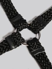 Bondage Boutique Soft Rope Hogtie, Black, hi-res
