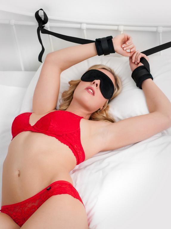 Bondage Boutique Kinky Couple Bedroom Restraint Kit (5 Piece), Black, hi-res