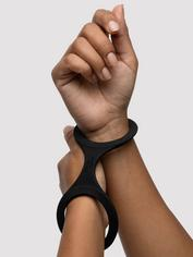 Quickie Cuffs Super-Strong Medium Silicone Restraints, Black, hi-res