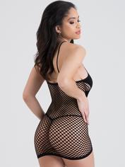 Lovehoney Hourglass Black Mini Dress, Black, hi-res