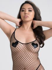 Lovehoney Fishnet Mini Dress, Black, hi-res