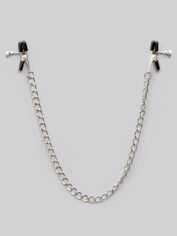 Bondage Boutique Adjustable Nipple Clamps, Silver, hi-res