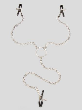 Bondage Boutique Adjustable Nipple Clamps and Clit Clamp