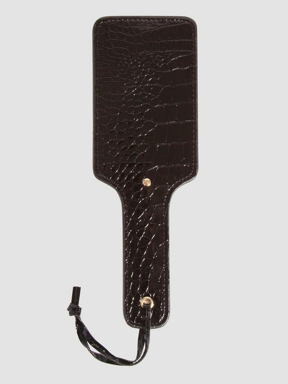 Bondage Boutique Faux Crocodile Leather Paddle, Black, hi-res