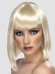 Short Blonde Wig with Fringe, Blonde, hi-res
