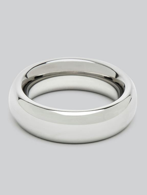 DOMINIX Deluxe 1.75 Inch Stainless Steel Donut Cock Ring, Silver, hi-res