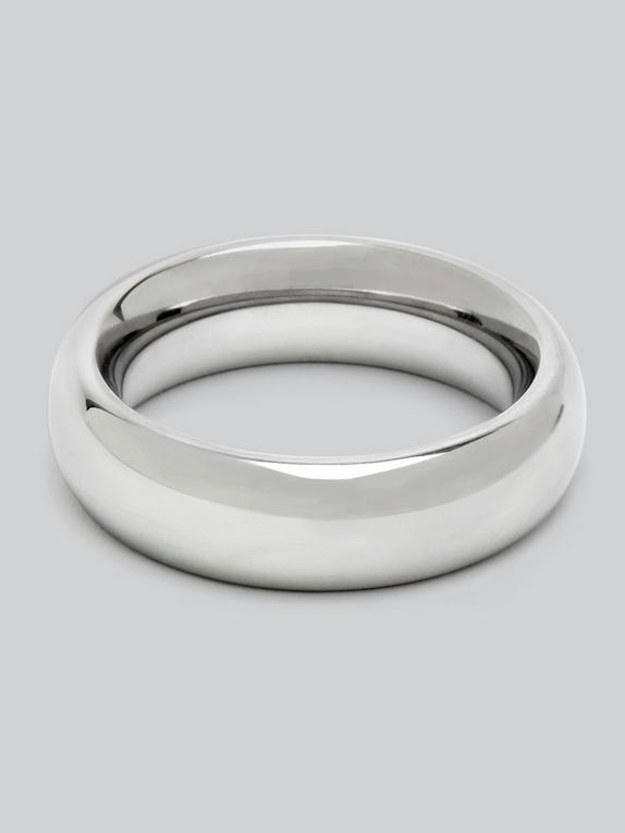DOMINIX Deluxe 1.9 Inch Stainless Steel Doughnut Cock Ring, Silver, hi-res