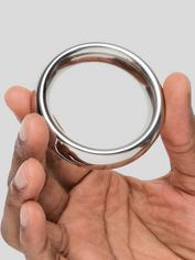 DOMINIX Deluxe 1.9 Inch Stainless Steel Donut Cock Ring, Silver, hi-res