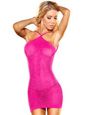 Lapdance Hot Pink VIP Glitter Mini Dress, Pink, hi-res