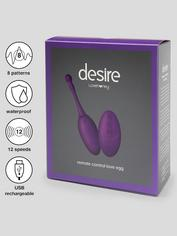 Desire Luxury Rechargeable Remote Control Love Egg Vibrator, Purple, hi-res