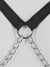 Bondage Boutique Chain Bikini with Elasticated Straps, Black, hi-res