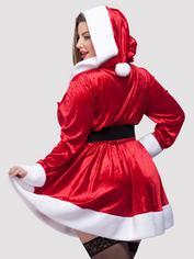 Disfraz de Mamá Noel Sexy con Capucha y Cinturón, Rojo, hi-res