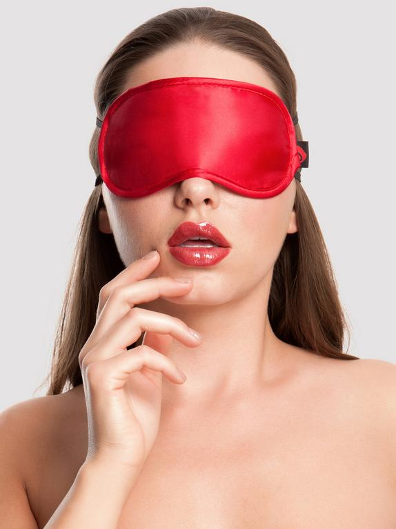 Lovehoney Oh! Satin Blindfold, Red, hi-res