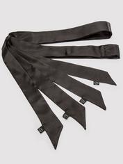 Lovehoney Silky Black Bondage Restraints (4 Pack), Black, hi-res