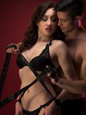 Lovehoney Silky Bondage Restraints (4 Pack), Black, hi-res