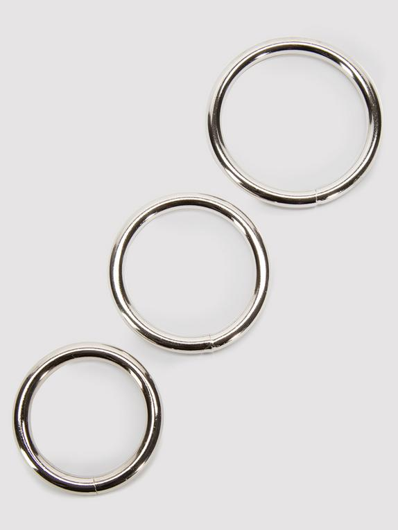 Sportsheets Metal O-Ring Set (3 Pack), Silver, hi-res