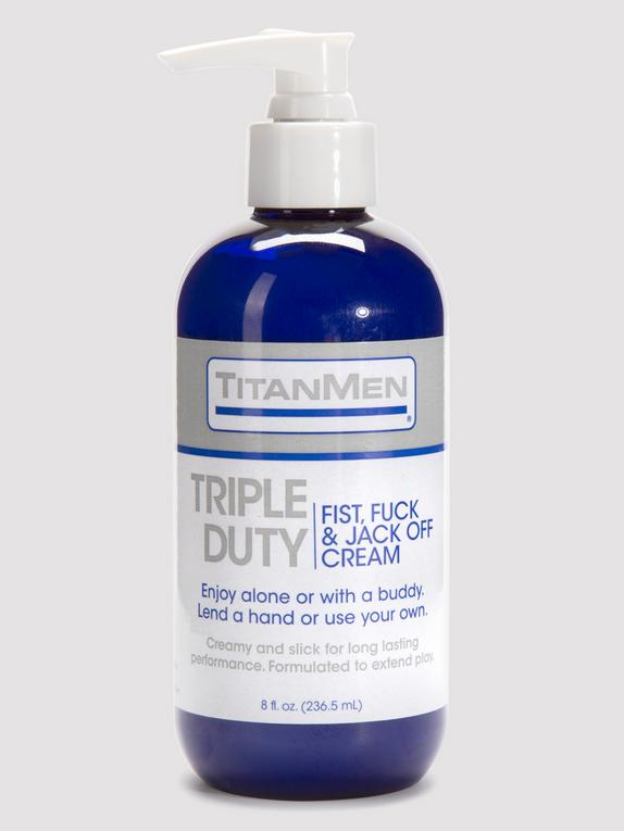 Doc Johnson TitanMen Triple Duty Fisting Cream 8 fl oz, , hi-res