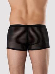LHM Stripe Mesh Boxer Shorts Black, Black, hi-res