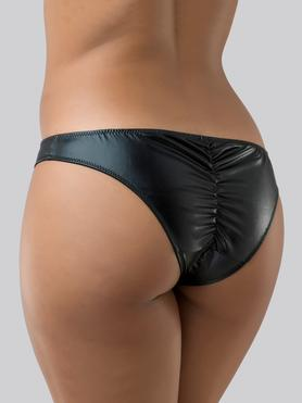 Lovehoney Wet Look Crotchless Knickers