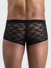 LHM All Over Lace Boxer Shorts, Black, hi-res