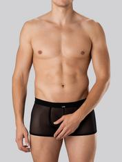 LHM Microfibre & Mesh Boxer Shorts, Black, hi-res