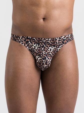 LHM Leopard Print Thong for Men