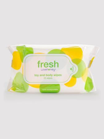 Lovehoney Fresh Biodegradable Sex Toy & Body Wipes (25 Count)