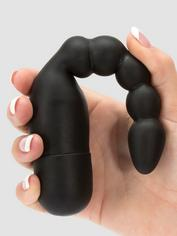 Magic Missile Vibrating Ribbed Silicone Male Prostate Massager, Black, hi-res