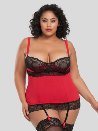 Lovehoney Plus Size Adore Me Underwired Basque Set