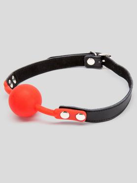Bondage Boutique Faux Leather Medium Silicone Ball Gag