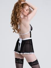 Lovehoney Fantasy French Maid Costume, Black, hi-res