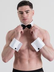 LHM Male Stripper Collar and Cuff Kit, Black, hi-res