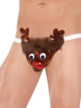 Rude-olf Reindeer Sexy Novelty Thong for Men